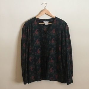Vintage Alfred Sung Paisley Button Down